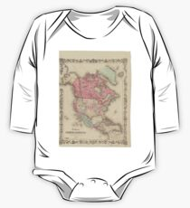 1861 North America Map One Piece - Long Sleeve