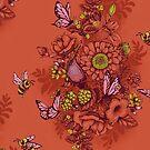 Beauty (eye of the beholder) - crimson version by Lidija Paradinovic Nagulov