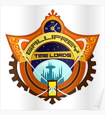 Gallifrey Timelords Sports Logo Poster
