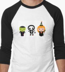 Happy Kids in Halloween costumes Men's Baseball ¾ T-Shirt