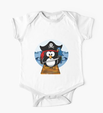 Pirate Penguin at Sea Kids Clothes