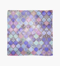 Royal Purple, Mauve & Indigo Decorative Moroccan Tile Pattern Scarf