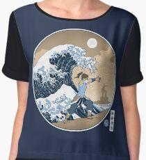 Avatar Waterbender Great Wave Chiffon Top