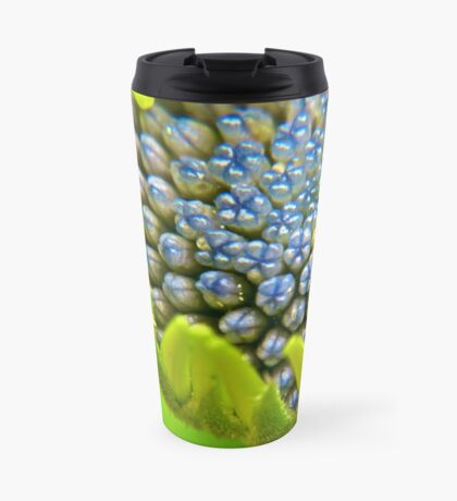 Blue Buds Amongst Emerging Petals Travel Mug