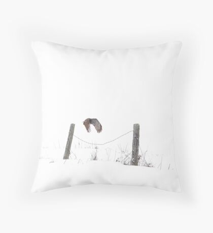 Post to Post - Great grey owl Throw Pillow