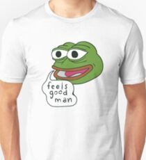 "Pepe The Frog ""Feels good man"" Unisex T-Shirt"
