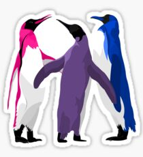 Bisexual Pride Penguins Sticker
