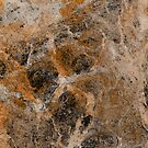 Rusting Marble - Abstract marble pattern painting by Printpix