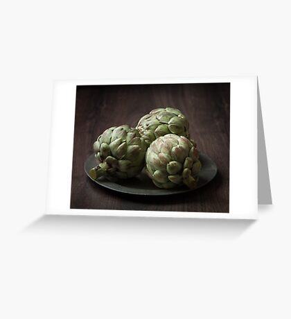 Still Life with artichokes 2 Greeting Card