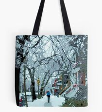 Montreal soft winter day Tote Bag
