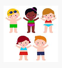 Little cute colorful summer Kids Photographic Print