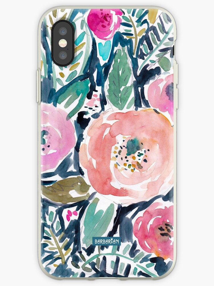 Gardens of Capitola Watercolor Floral by Barbarian
