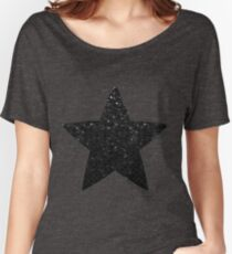 Black Crystal Bling Strass G283 Women's Relaxed Fit T-Shirt