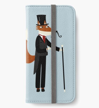 Mr Fox Takes a Stroll iPhone Wallet
