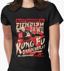 Black Dynamite vs. Teuflischer Dr. Wu Tailliertes T-Shirt