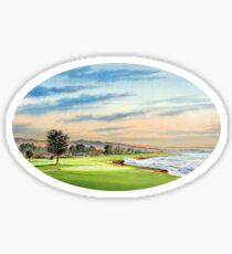 Pebble Beach Golf Course 18Th Hole Sticker