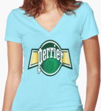 Haaaaaa, Perrier Women's Fitted V-Neck T-Shirt