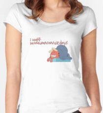 Rick and Morty: Gazorpazorpfield - I Hate  Momumnonuzdays Women's Fitted Scoop T-Shirt