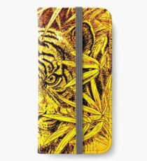 King of the Jungle in orange-yellow iPhone Wallet