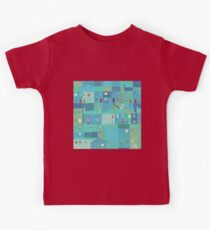 Blue town from the steps Kids Tee