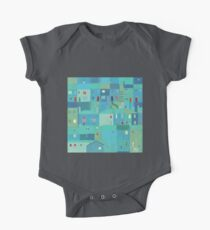 Blue town from the steps Kids Clothes