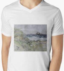 Pelican Key Mens V-Neck T-Shirt