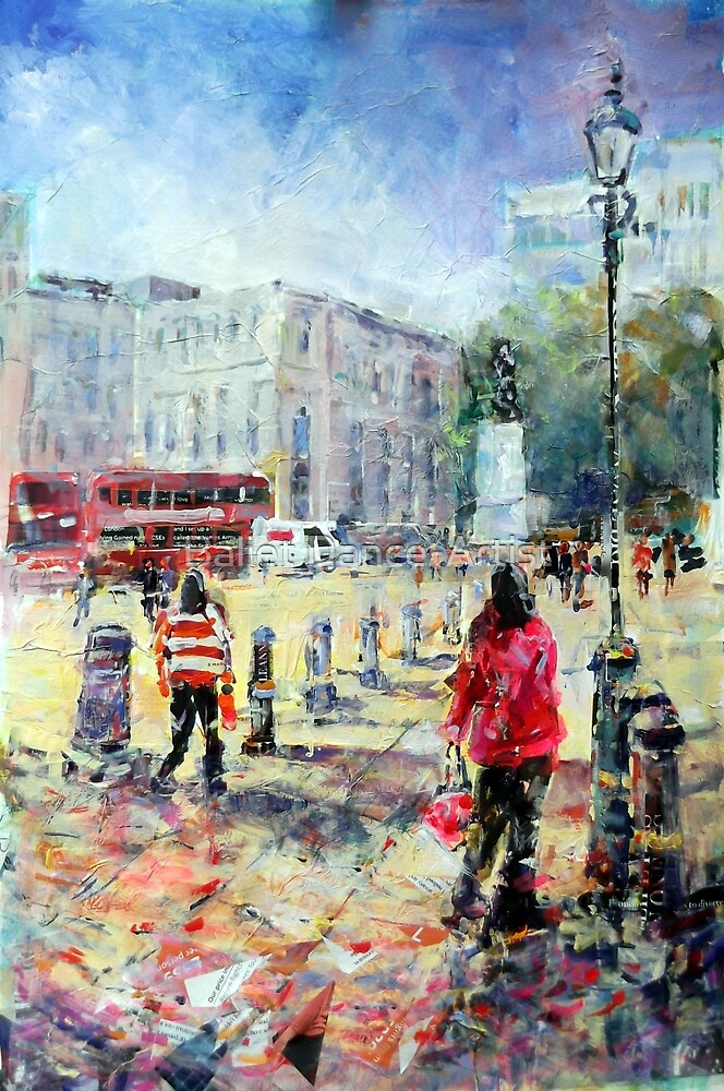 London Art Sunny Afternoon In The City by Ballet Dance-Artist