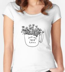 Just My Cup of Tea Women's Fitted Scoop T-Shirt