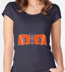 Dark Knight Harvey In Orange Women's Fitted Scoop T-Shirt