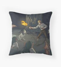Blood in the Water Throw Pillow