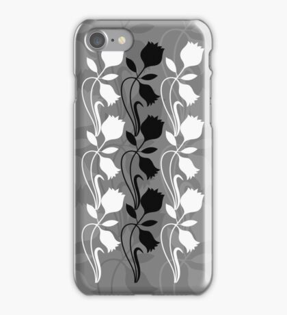 Layered Floral Silhouette Print (6 of 8 please see notes) iPhone Case/Skin