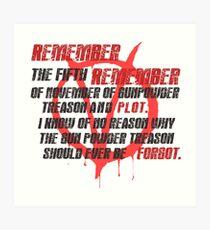 v for vendetta quote Art Print