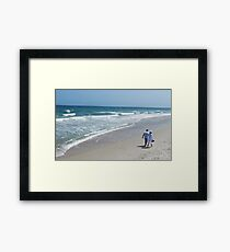Stroll On Carolina Beach Framed Print