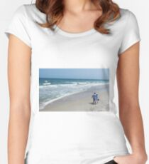 Stroll On Carolina Beach Women's Fitted Scoop T-Shirt
