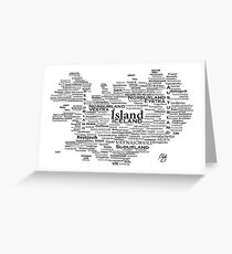 Iceland Art Greeting Card