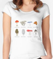 Mushroom Mania Women's Fitted Scoop T-Shirt
