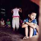 Thai village kids by David Kelly