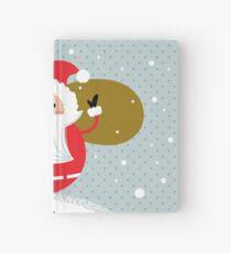 Happy Santa Illustration for christmas card Hardcover Journal