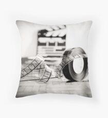 Clapperboard & Film Throw Pillow