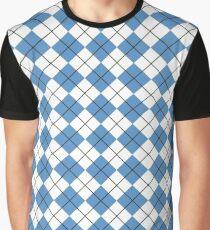 Carolina Blue Argyle Graphic T-Shirt