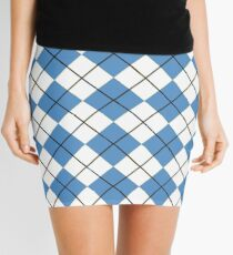 Carolina Blue Argyle Mini Skirt