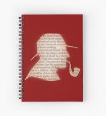 Silhouette Sherlock Holmes  Spiral Notebook