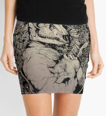 The Dragon's Daughter- Sepia  Mini Skirt
