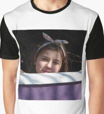 Farrah Behind The Purple Wall Graphic T-Shirt