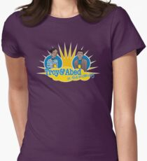Troy and Abed in the Morning Womens Fitted T-Shirt