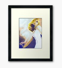 Blonde Cigarette Framed Print
