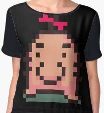 Ness Mr. Saturn Shirt Chiffon Top