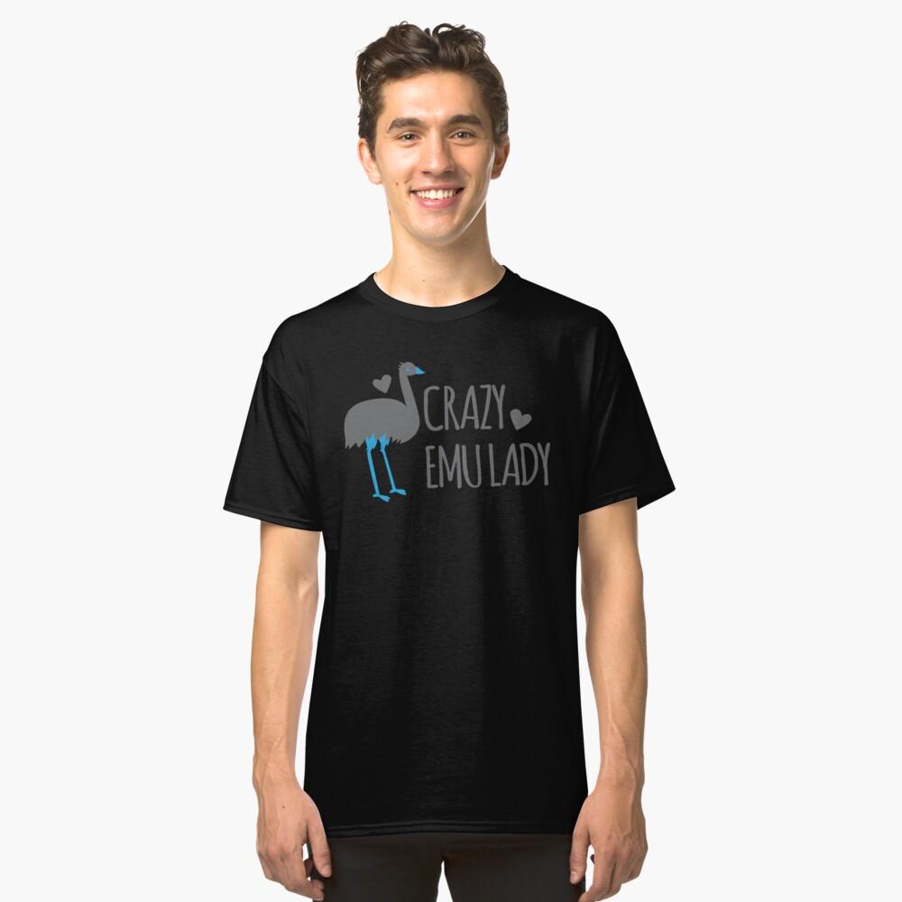 Verrückte EMU-Dame Classic T-Shirt