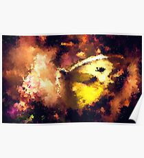 abstract butterfly insect flowers Poster