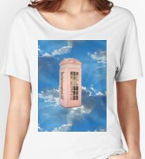 pink phone booth Women's Relaxed Fit T-Shirt